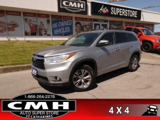 Used 2016 Toyota Highlander LE  AWD 8-PASS REAR-CAMERA PWR-GRP BT for sale in St. Catharines, ON