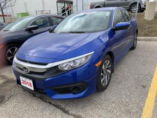 Used 2018 Honda Civic Beautiful One Owner Civic SE Leased New Right Here at Waterloo Honda! Certified Powertrain Warranty for sale in Waterloo, ON