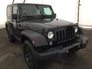 Used 2018 Jeep Wrangler JK Sport HIGH GLASS BLACK ALUMINUM WHEELS, POWER CONV GROUP, ROCKER GUARDS for sale in Ottawa, ON