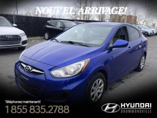 Used 2012 Hyundai Accent GL + GARANTIE + A/C + CRUISE + WOW !! for sale in Drummondville, QC