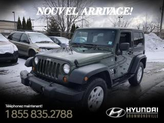 Used 2008 Jeep Wrangler X + CRUISE + BLUETOOTH + HITCH + WOW !! for sale in Drummondville, QC