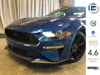 Used 2018 Ford Mustang EcoBoost haut niveau à toit fuyant for sale in St-Hyacinthe, QC