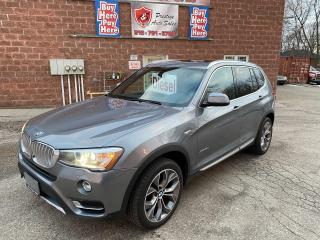 Used 2015 BMW X3 xDrive28d/Premium Enhanced Pkg/DIESEL/4WD/SAFETY for sale in Cambridge, ON