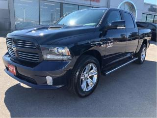 Used 2017 RAM 1500 Sport Crew 4x4 V8 w/Leather, Sunroof, Navi for sale in Hamilton, ON