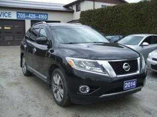 Used 2014 Nissan Pathfinder Platinum,4x4,Dual DVD,Pano Roof,360 Camera, 7 Pass for sale in Beaverton, ON