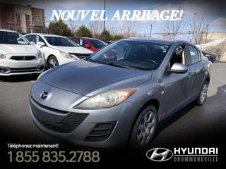 Used 2010 Mazda MAZDA3 GX + GARANTIE + GROUPE ELECTRIQUE + JAMA for sale in Drummondville, QC