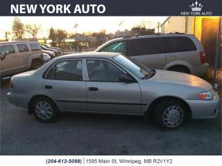Used 2002 Toyota Corolla CE for sale in Winnipeg, MB
