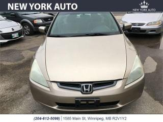 Used 2004 Honda Accord Sdn LX-G for sale in Winnipeg, MB