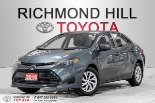Used 2018 Toyota Corolla LE  - $140.69 B/W for sale in Richmond Hill, ON