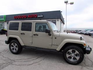Used 2018 Jeep Wrangler Unlimited Sahara 4WD Automatic Certified for sale in Milton, ON