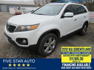 Used 2012 Kia Sorento EX AWD *Clean Carfax* Certified + 6 Month Warranty for sale in Brantford, ON