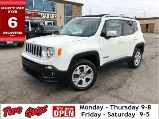 Used 2017 Jeep Renegade LIMITED | Leather | Navigation |  My Sky Roof | 4W for sale in St Catharines, ON