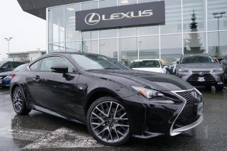 Used 2016 Lexus RC 350 AWD 6A / F Sport 1, Local, LOW KM, ONE Owner, NO A for sale in North Vancouver, BC