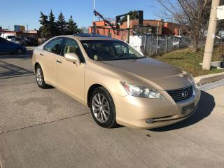 Used 2007 Lexus ES 350 ROOF,ALLOYS,P/START,SAFETY+3YEARS WARRANT INCLUDED for sale in Toronto, ON