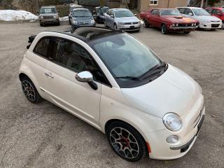 Used 2014 Fiat 500 Lounge/CONVERTIBLE/NO ACCIDENT/SAFETY INCLUDED for sale in Cambridge, ON