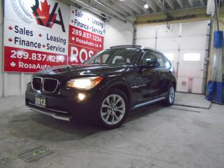 Used 2012 BMW X1 AWD GAS SAVER 28i B-TOOTH  LOW KM SUNROOF LEATHER for sale in Oakville, ON