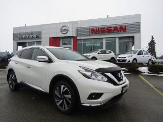 Used 2017 Nissan Murano Platinum for sale in Timmins, ON