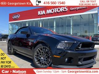 Used 2014 Ford Mustang Shelby GT500 CONVERTIBLE|TRIPLE BLK| NAVI | RECARO for sale in Georgetown, ON