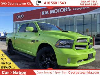 Used 2017 RAM 1500 4X4 CREW CAB  LIME GREEN SPORT  DADDIES TOY TRUCK for sale in Georgetown, ON