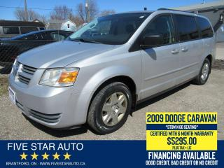Used 2009 Dodge Grand Caravan SE - Certified w/ 6 Month Warranty for sale in Brantford, ON