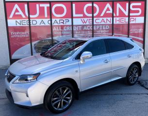 Used 2013 Lexus RX 350 F-SPORT ALL CREDIT ACCEPTED for sale in Scarborough, ON