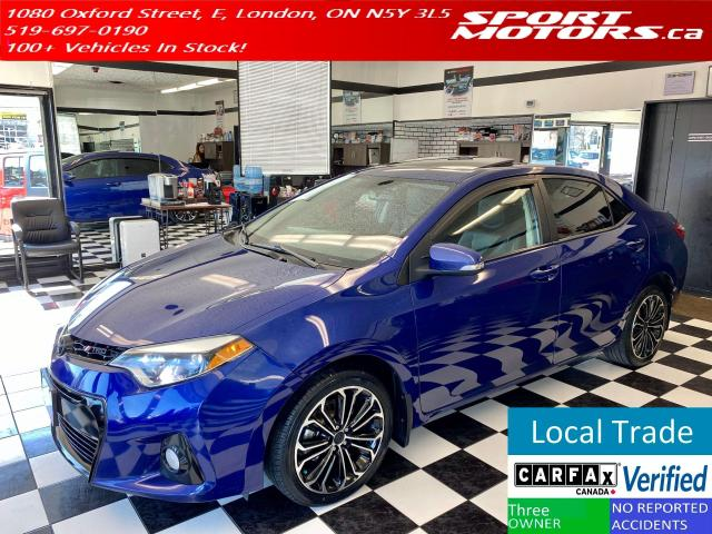 2015 Toyota Corolla S+New Tires+Camera+Navigation+Sunroof+Leather