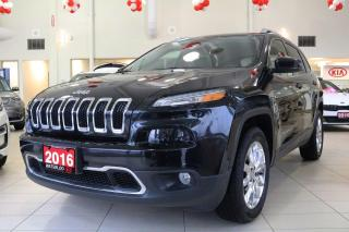 Used 2016 Jeep Cherokee 4X4 LIMITED for sale in Waterloo, ON