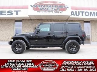 Used 2018 Jeep Wrangler GOLDEN EAGLE 4X4, ALL OPTIONS & ACCESSORIES, 2 TOP for sale in Headingley, MB