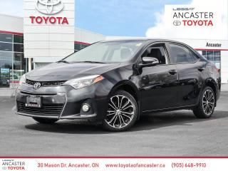 Used 2015 Toyota Corolla S - 1 OWNER NO ACCIDENTS SUNROOF LEATHER for sale in Ancaster, ON