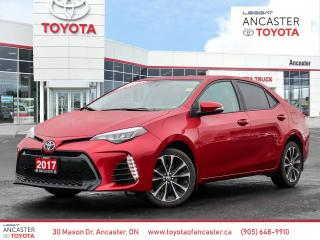 Used 2017 Toyota Corolla SE - 1 OWNER|SUNROOF|BLUETOOTH|BACKUP CAMERA for sale in Ancaster, ON