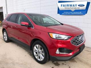 New 2020 Ford Edge Titanium  - Leather Seats - Power Moonroof for sale in Steinbach, MB