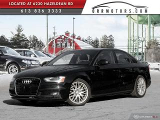 Used 2016 Audi A4 2.0T Komfort plus 6 SPD | S-LINE | SUNROOF | HEATED LEATHER | BLUETOOTH for sale in Stittsville, ON