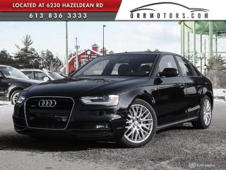 Used 2015 Audi A4 2.0T Komfort S-LINE | ONE OWNER | HEATED LEATHER | SUNROOF | BLUETOOTH for sale in Stittsville, ON