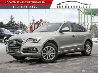 Used 2016 Audi Q5 2.0T Progressiv ONE OWNER | BLUETOOTH | PUSH START | HEATED LEATHER for sale in Stittsville, ON
