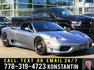 Used 2003 Ferrari 360 F1 Gearbox - Upgraded Exhaust- Performance Wheels for sale in Maple Ridge, BC