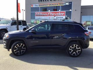 Used 2018 Jeep Compass LIMITED 4X4|LEATHER|PANORAMIC SUNROOF|NAVIGATION for sale in Milton, ON