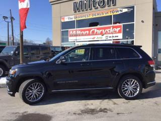 Used 2018 Jeep Grand Cherokee SUMMIT 4X4|PANO ROOF|TOW PKG|LEATHER|SAFETY TECH for sale in Milton, ON
