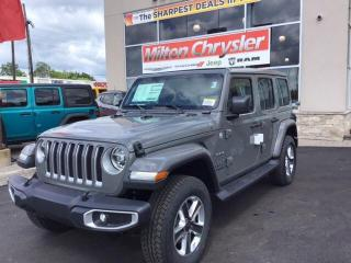 Used 2019 Jeep Wrangler UNLIMITED SAHARA 4X4 / LEATHER / SKY POWER TOP / N for sale in Milton, ON