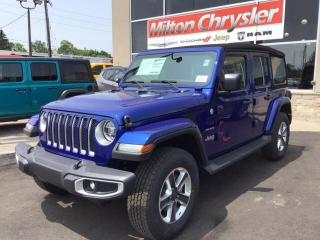 Used 2019 Jeep Wrangler UNLIMITED SAHARA 4X4/NAV/COLD WEATHER GRP/LED LIGH for sale in Milton, ON