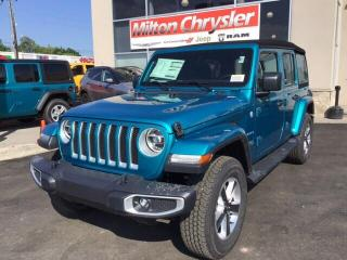 Used 2019 Jeep Wrangler UNLIMITED SAHARA 4X4/NAV/LED/COLD WEATHER for sale in Milton, ON