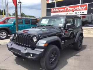 Used 2019 Jeep Wrangler SPORT 4X4 / AIR COND / AUTO for sale in Milton, ON