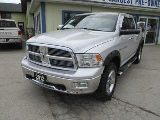 Used 2012 Dodge Ram 1500 WORK READY BIG-HORN EDITION 5 PASSENGER 5.7L - HEMI.. 4X4.. CREW-CAB.. SHORTY.. CD/AUX INPUT.. KEYLESS ENTRY.. TRAILER BRAKE.. for sale in Bradford, ON