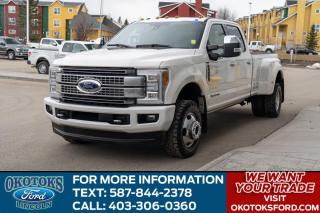Used 2018 Ford F-350 Platinum 6.7L POWER STROKE V8 DIESEL, FULLY LOADED PLATINUM ULTIMATE PACKAGE, BED LINER, LEATHER, DUALLY for sale in Okotoks, AB