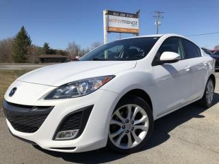 Used 2010 Mazda MAZDA3 6-Speed Manual GT with Heated Seats, Bluetooth, Steering Wheel Controls, Pwr Windows, Cruise, Air, K for sale in Kemptville, ON