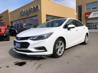 Used 2018 Chevrolet Cruze Premier - Heated Steering and Seats, Remote Start! for sale in Kingston, ON