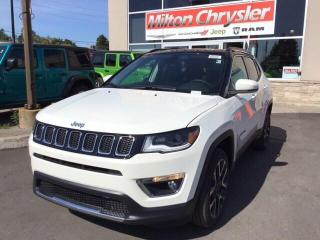 New 2020 Jeep Compass LIMTED 4X4 / TOW GRP / NAV / PANO ROOF / SAFETY GR for sale in Milton, ON