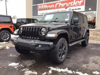 New 2020 Jeep Wrangler UNLIMTED SAHARA ALTITUDE 4X4 / LEATHER / LED / NAV for sale in Milton, ON