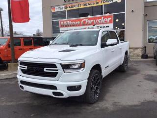 New 2020 RAM 1500 SPORT CREW 4X4 / 12 INCH SCREEN / PANO ROOF / SAFE for sale in Milton, ON