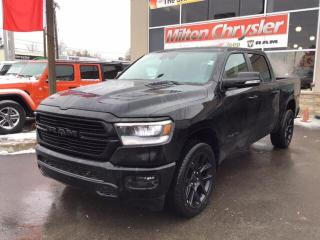 New 2020 RAM 1500 SPORT CREW 4X4 / NIGHT EDITION / 12 INCH RADIO / H for sale in Milton, ON