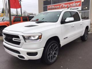 New 2020 RAM 1500 SPORT CREW 4X4 / 12 INCH NAV / PANO ROOF for sale in Milton, ON